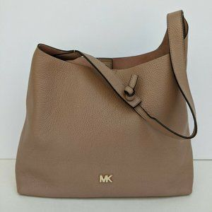 Michael Kors Junie Hobo Purse Brown Leather Purse
